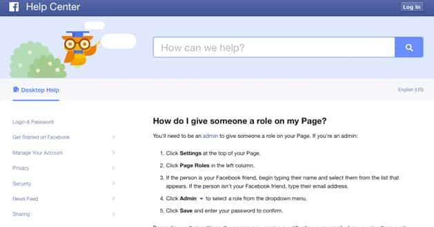 Facebook Role